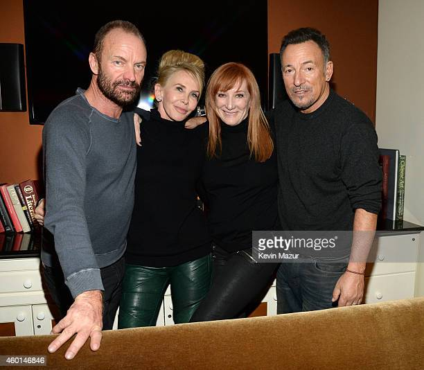 Sting Trudie Styler Patti Scialfa and Bruce Springsteen attend the 37th Annual Kennedy Center Honors party at Mandarin Oriental Hotel on December 7...