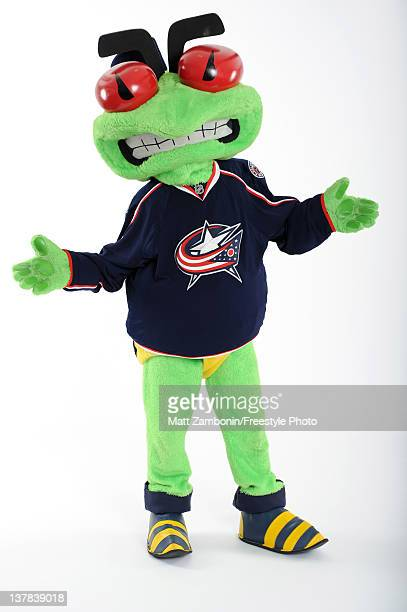 Stinger mascot for the Columbus Blue Jackets poses for a portrait during 2012 NHL AllStar Weekend at Ottawa Convention Centre on January 26 2012 in...