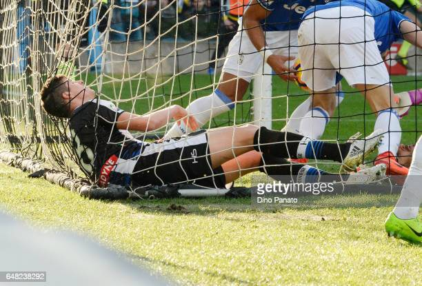 Stipe Perica of Udinese Calcio shows his dejection after Bonucci's of Juventus goal during the Serie A match between Udinese Calcio and Juventus FC...