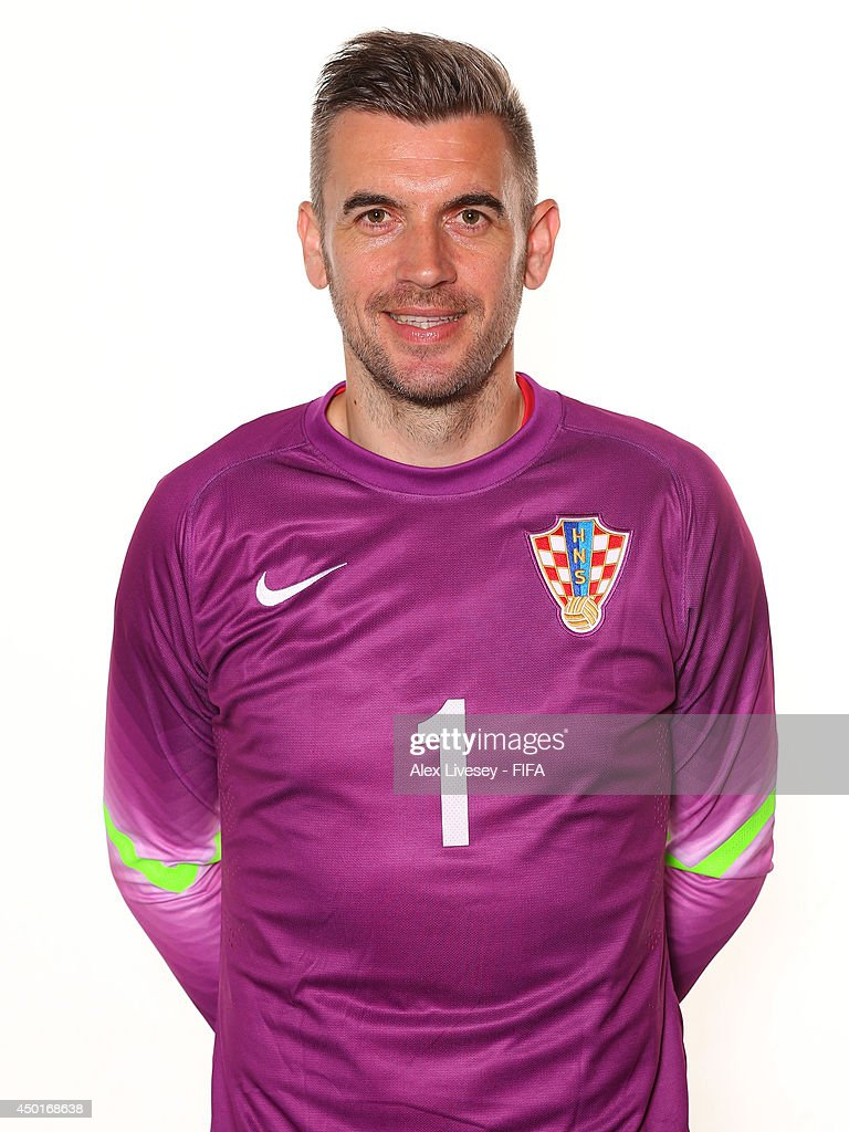 Stipe Pletikosa of Croatia poses during the official FIFA World Cup 2014 portrait session on June 5 2014 in Salvador Brazil