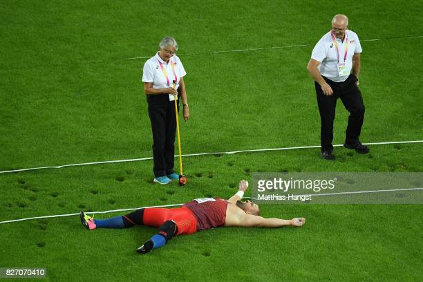 Stipe Zunic of Croatia competes in the Men's Shot Put final during day three of the 16th IAAF World Athletics Championships London 2017 at The London...