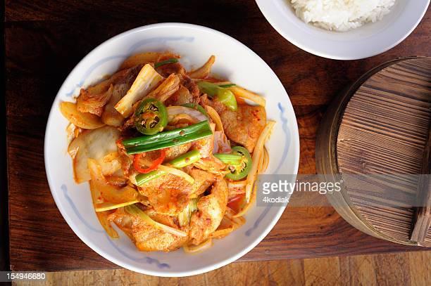 Agite frito Kimchi