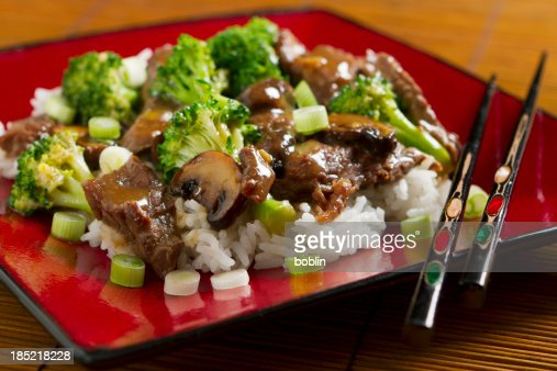 Stir-fried Beef and Brocolli : Stock Photo