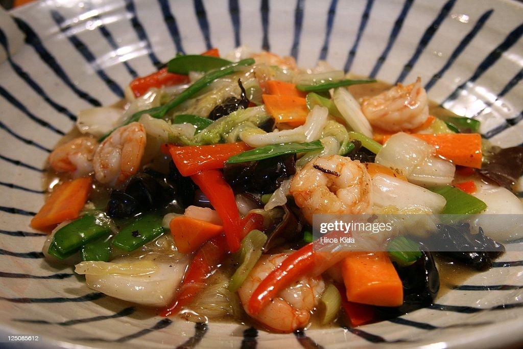 Stir-fried vegetables : Stock Photo