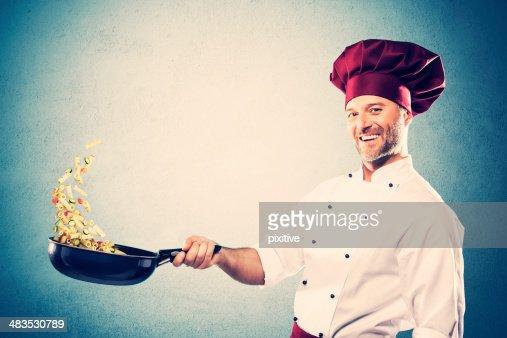 Stir-frying chef