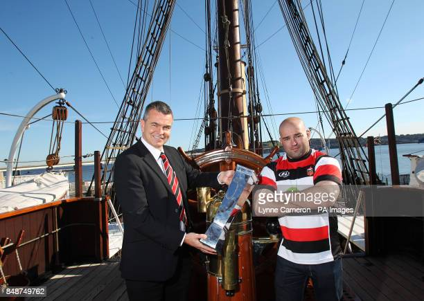 Stirling County's Kevin Robertson and Alex Moffat during the British and Irish Cup Launch at Discovery Quay Dundee