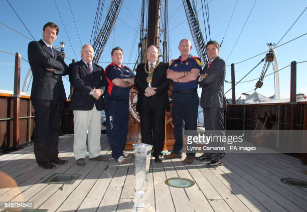 Stirling County's Kevin Robertson Lord Provost Bob Duncan Stirling County's Alex Moffat Dundee's Neil Dymock and Gerry Tosh during the British and...