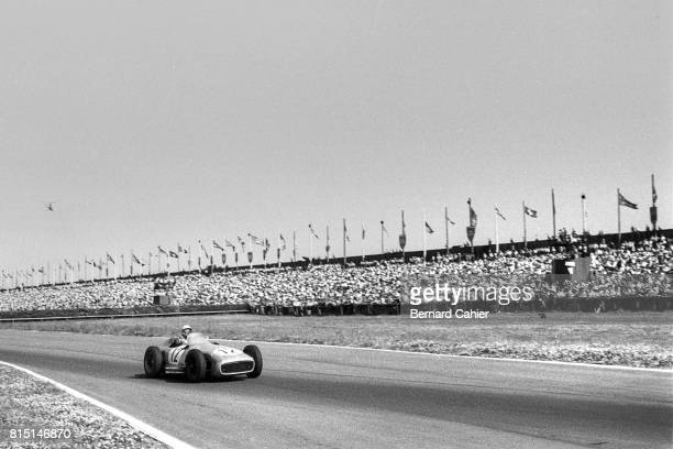 Stirling Moss Mercedes W196 Grand Prix of Great Britain Aintree England July 16 1955