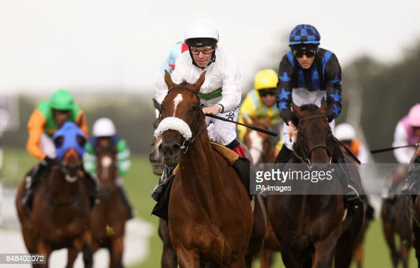 Stirring Ballad ridden by Franny Norton comes home to win The Tatler Stakes during Ladies Day of the Glorious Goodwood Festival at Goodwood...