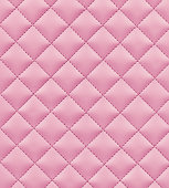 High resolution stitched pink leather