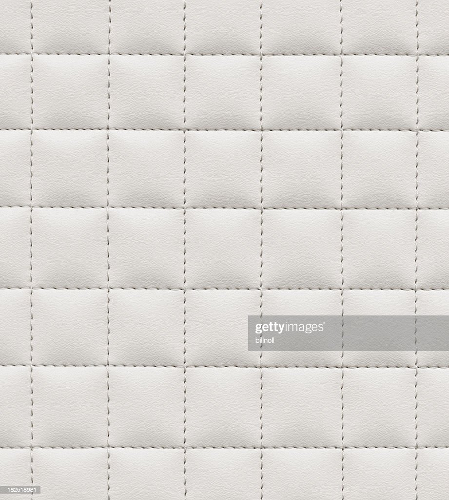 High resolution stitched white leather