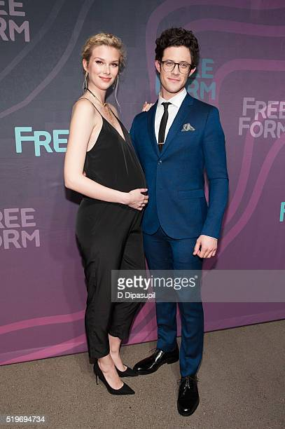 'Stitchers' cast members Emma Ishta and Kyle Harris attend the 2016 ABC Freeform Upfront at Spring Studios on April 7 2016 in New York City