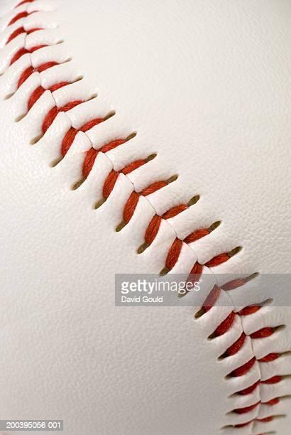 Stitching on baseball