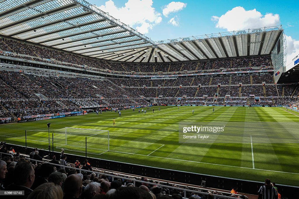 St.James' Park during the Barclays Premier League match between Newcastle United and Crystal Palace at St.James' Park on April 30, 2016, in Newcastle upon Tyne, England.