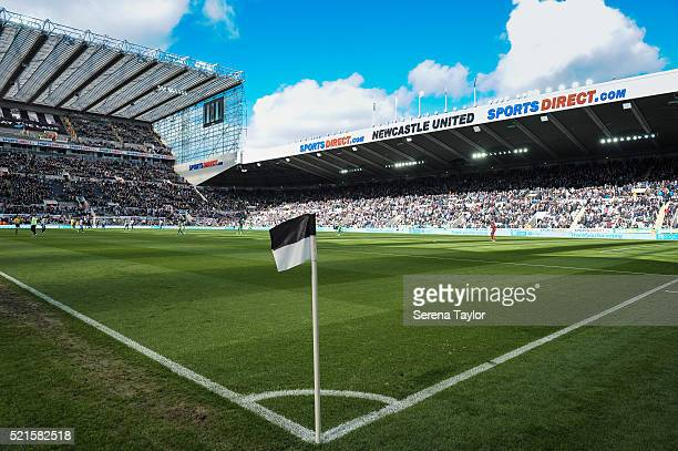 StJames' Park general view during the Barclays Premier League match between Newcastle United and Swansea City at StJames' Park on April 16 in...