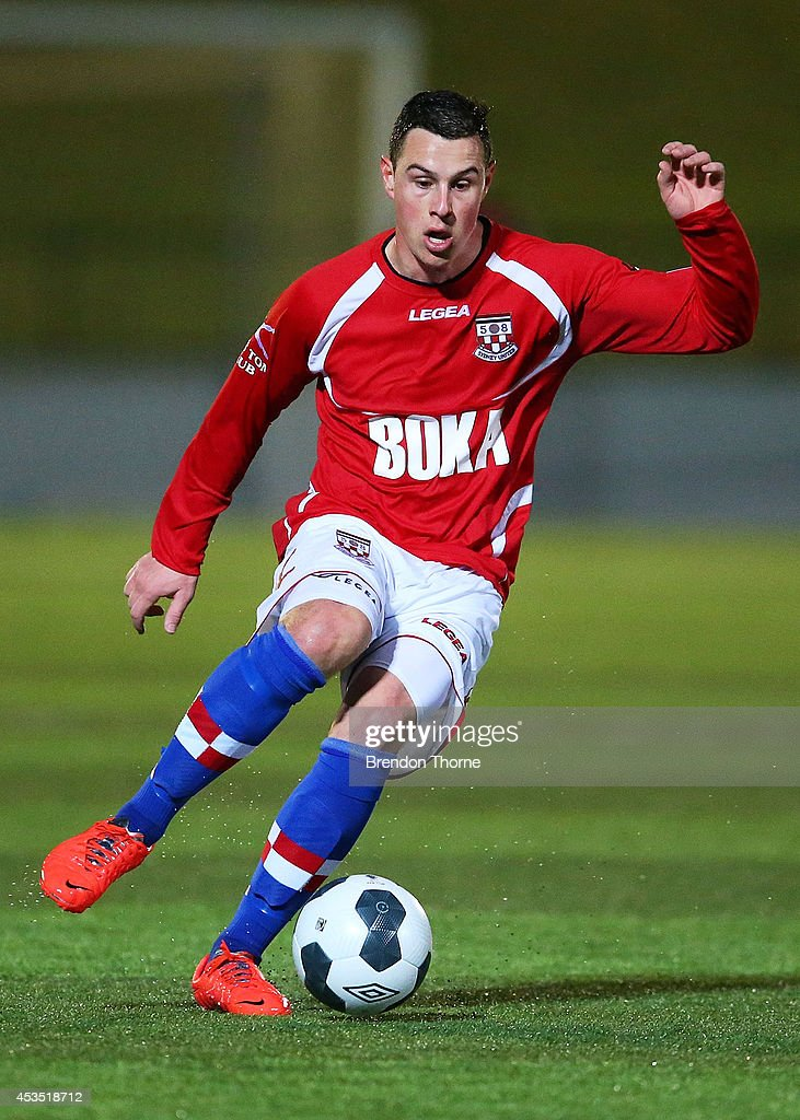 Stjepan Paric of United controls the ball during the FFA Cup match between Sydney United 58 FC and the FNQ Heat at Sydney United Sports Centre on August 12, 2014 in Sydney, Australia.
