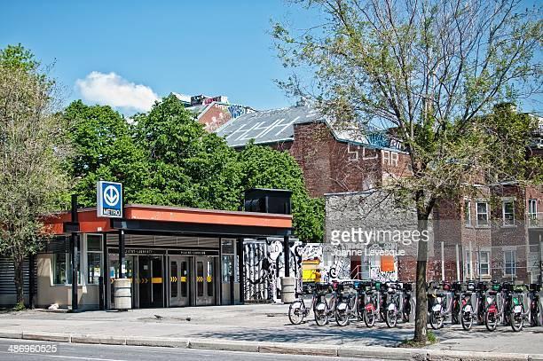 StLaurent Subway station and bikes Montreal