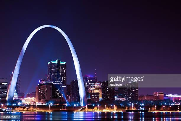 St.Louis Cityscape and Arch at night