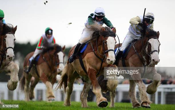 Stobillee Sirocco ridden by Bryony Frost race clear to win the Exeter Racecourse Clydesdale Stakes at Exeter Racecourse on November 26 2017 in Exeter...