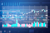 stock broker real time chart graphic, finance