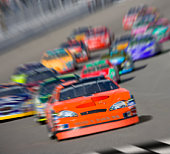 Stock car race (Digital Composite, Digital Enhancement)