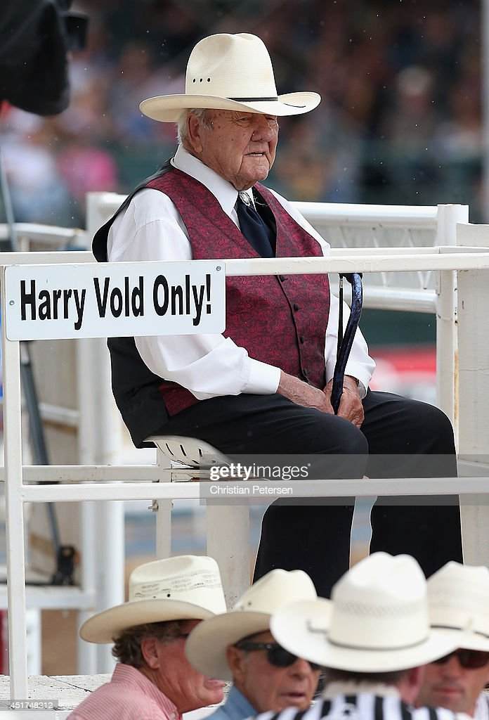 Stock contractor, Harry Vold looks on during the Prescott Frontier Days 'World's Oldest Rodeo' on July 5, 2014 in Prescott, Arizona.