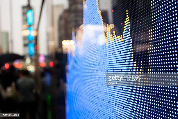 Stock display screen board in street