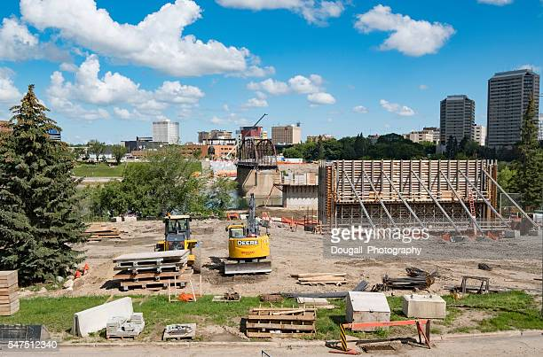 Stock Image of Construction of Saskatoon Traffic Bridge