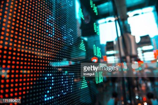 Pantalla LED de información en stock