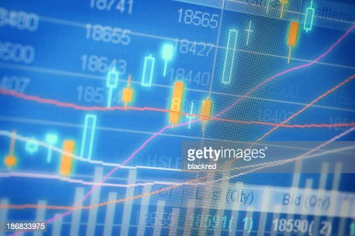 Stock Market Chart on Screen