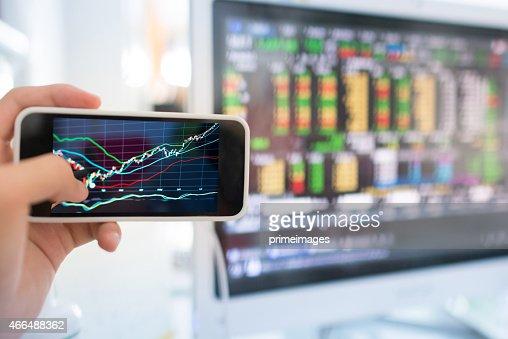 Stock market graph.