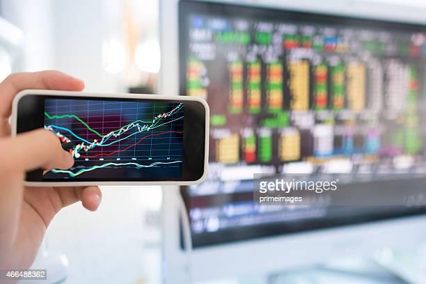 Mercato azionario grafico.