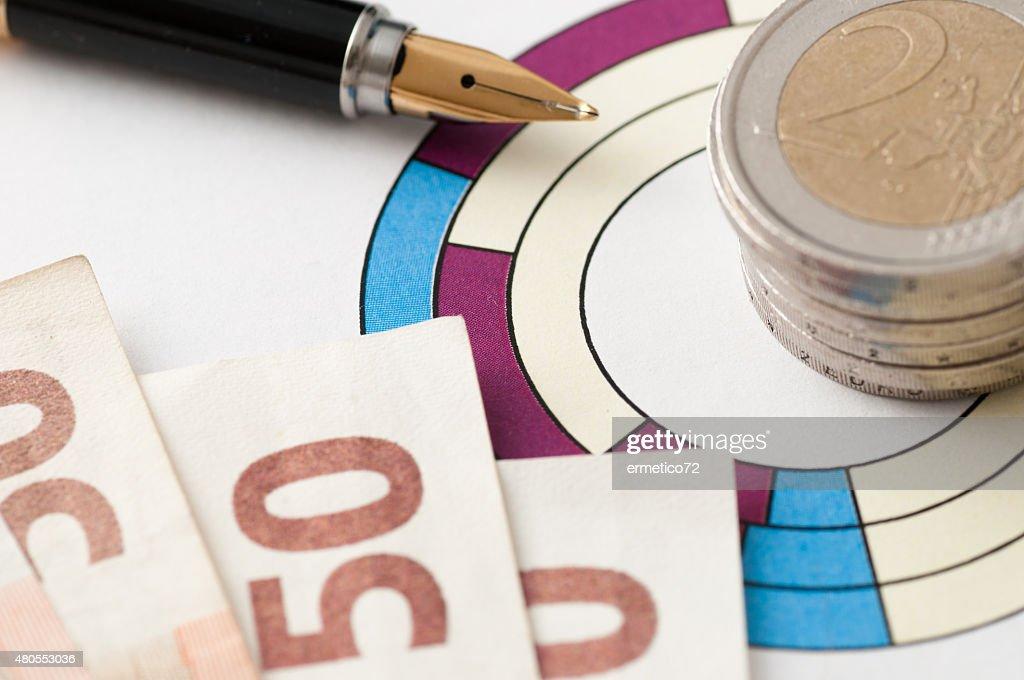 Mercado de investir suas poupanças : Foto de stock