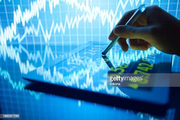 Stock Market on Digital Tablet