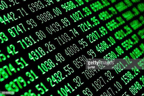 stock market surge - bull green financial screen