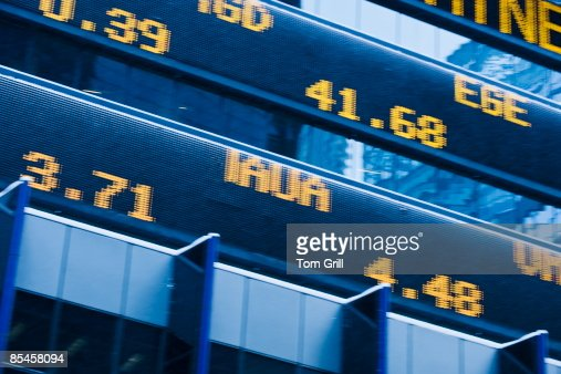 stock market ticker machine