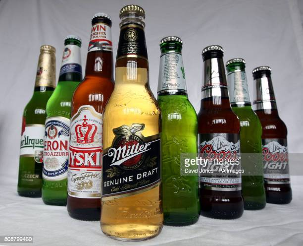 Stock photo of SABMiller beer Miller Peroni Tyskie Pilsner Urquell Grolsch and Coors Light