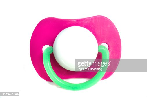 A stock photograph of a babies pacifier. : Stock Photo