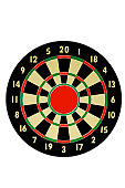 A stock photograph of a dart board with a huge bills eye that you cannot miss.
