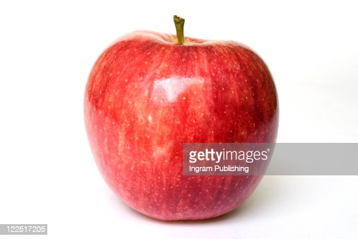 A stock photograph of an apple looking fresh, ripe and healthy. : Foto de stock