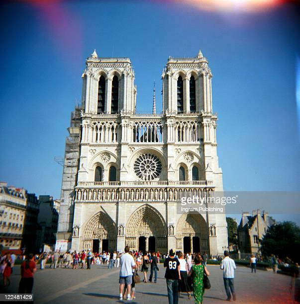 A stock photograph of the Cathedrale De Notre Dame De Paris.