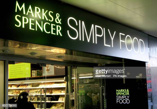 Stock picture of a Marks Spencer Simply Food in Victoria London