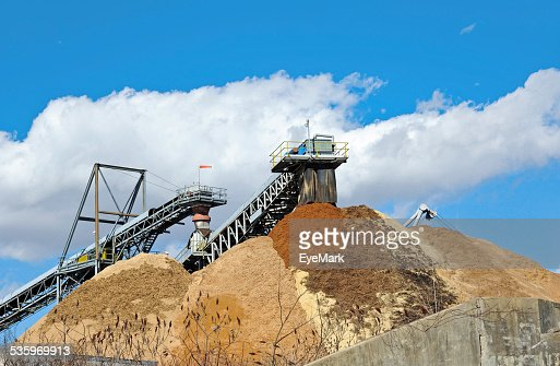 Stock Pile of Saw Dust : Stock Photo