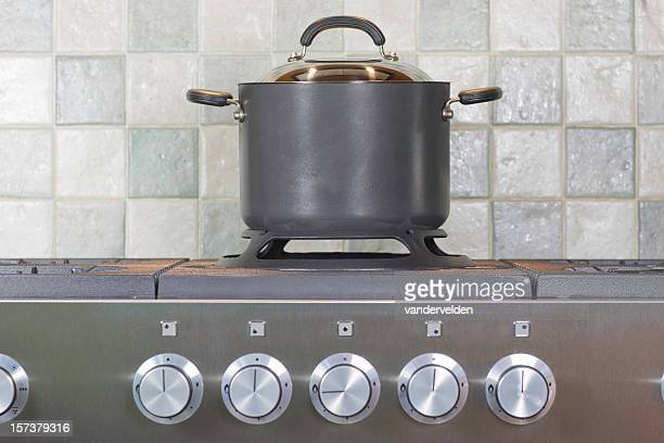 Stock Pot On The Cooker