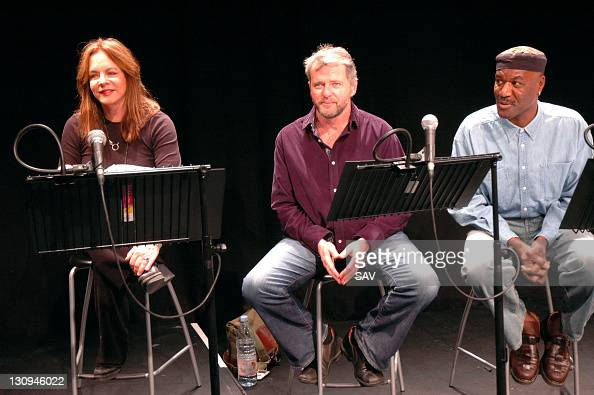 Stockard Channing Aidan Quinn and Delroy Lindo during 'The Exonerated' Photocall at Riverside Studios in London Great Britain