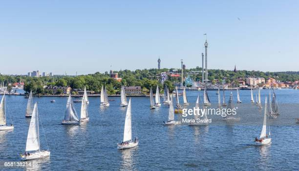 Stockholm -  Aerial View of Sailboats in Summer