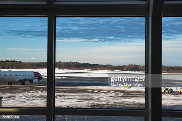 Stockholm Arlanda Airport in the winter