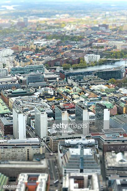 Stockholm cityscape, aerial view