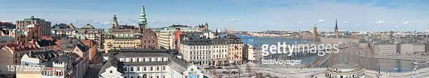 Paisaje de panorama Sodermalm estocolmo Slussen Gamla Stan Suecia