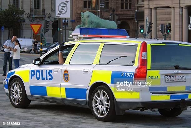 Stockholm Gamlastan Polizeifahrzeug